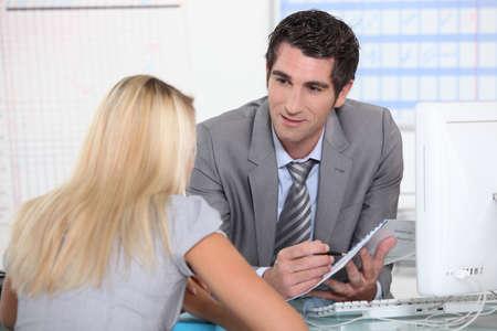 insurer: Business meeting Stock Photo