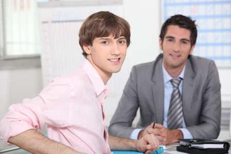 young man at appointment Stock Photo - 13817892