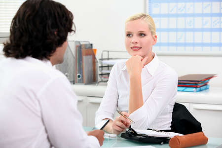 Young woman in interview Stock Photo - 13817995
