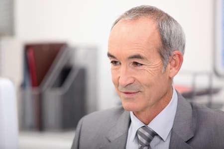 executive affable: Portrait of senior executive