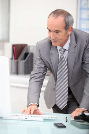 mature ceo working at office Stock Photo - 13817994