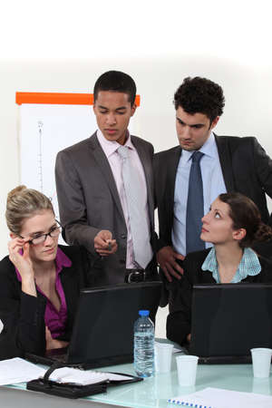 businesspeople during meeting Stock Photo - 13845363
