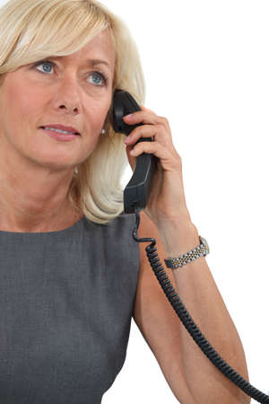 Middle-aged woman on the phone Stock Photo - 13850997