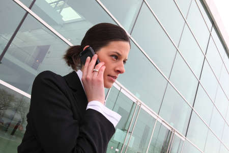 transcendental: woman on the phone Stock Photo