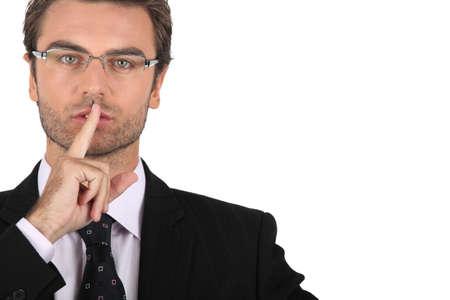 sanctioned: Smart man asking for silence