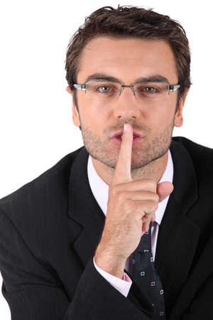 noiseless: Man asking for silence