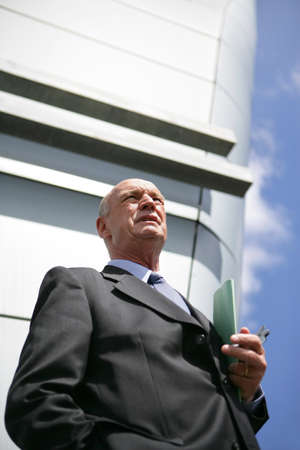 Senior businessman in the city Stock Photo - 13828032