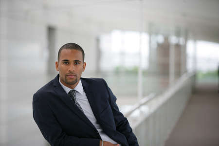 african businessman: handsome Afro-American businessman