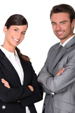 authoritative woman: A team of business professionals