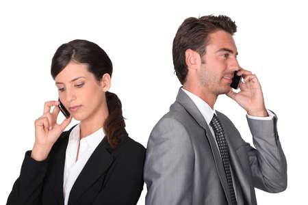 lapels: Business professionals talking