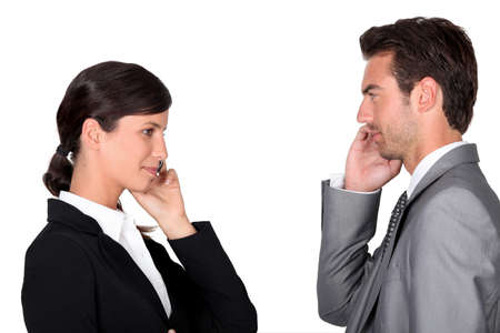 each other: female and male businesspartners