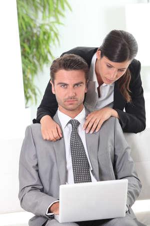 shoulder problem: business couple
