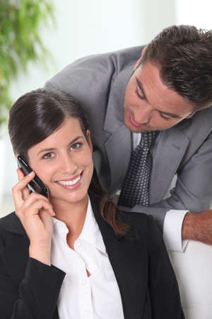 Businessman and woman Stock Photo - 13828007