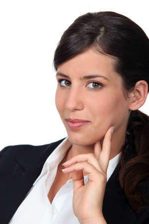 dishy: portrait of young businesswoman Stock Photo