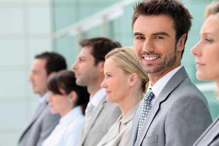 Businesspeople stood in a row photo