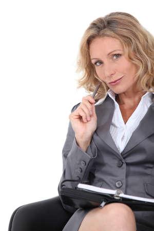 clever: Confident businesswoman Stock Photo
