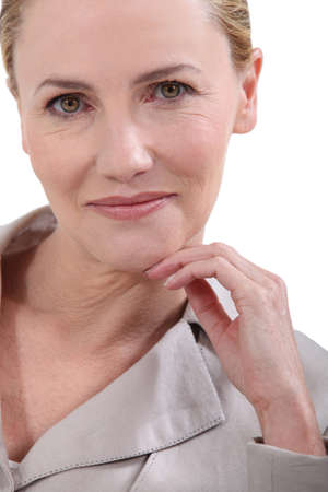 middle age woman: Portrait of a mature woman