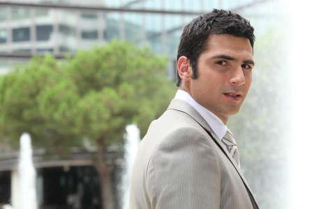 Businessman outside Stock Photo - 13845914