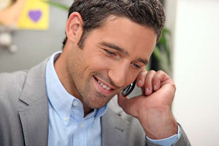 advisers: man passing a phone call
