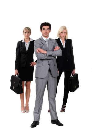 businessteam: Confident business-team Stock Photo