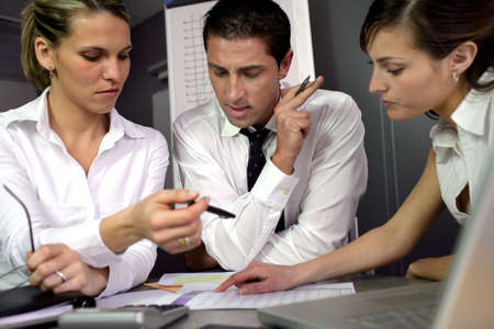 advisers: Financial advisers in meeting