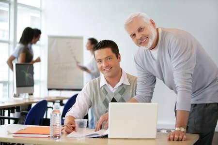 office environment: A group of entrepreneurs