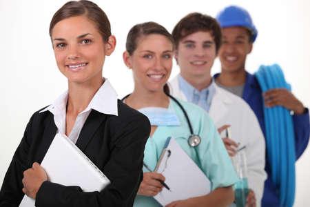 diferentes profesiones: las profesiones y oficios