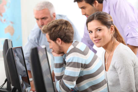 People on a computer course Stock Photo - 13841899
