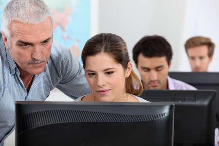 Computer lesson photo
