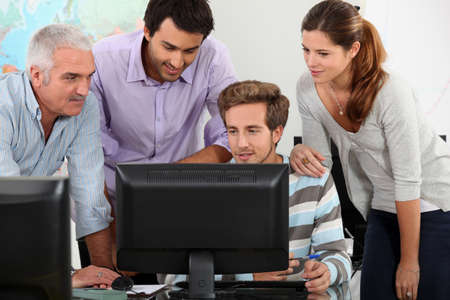 itc: IT lesson Stock Photo