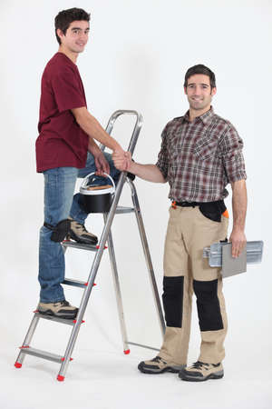 Two artisan workers photo