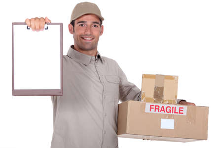 Man delivering parcel photo