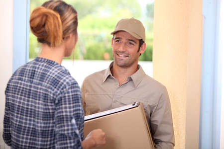 tertiary: package delivery Stock Photo