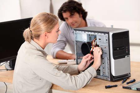 computer repair: computer repair service Stock Photo