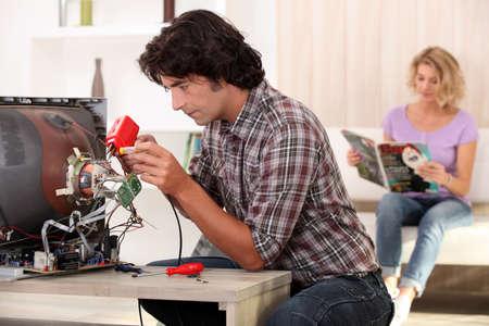 tertiary: Appliance Repair Stock Photo