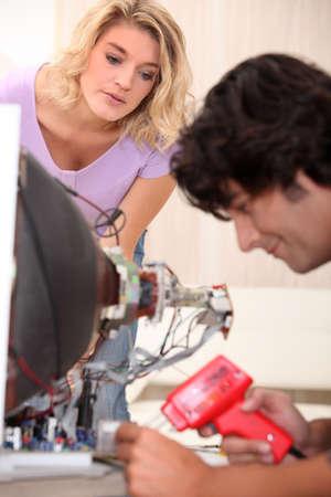 TV repairman photo