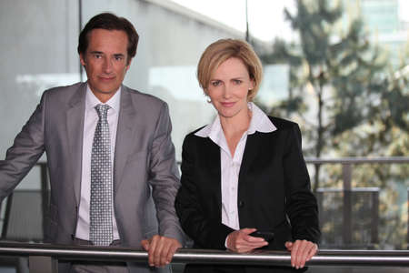 Pair of confident executives Stock Photo - 13839997