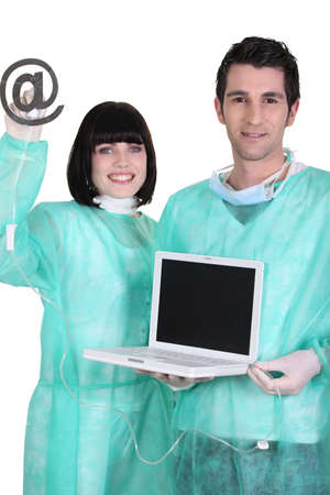 Operating theatre for a laptop Stock Photo - 13841724