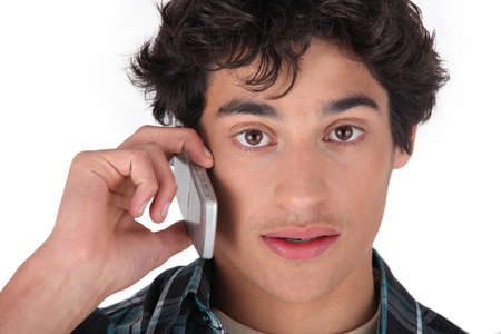 restlessness: portrait of a teen on the phone