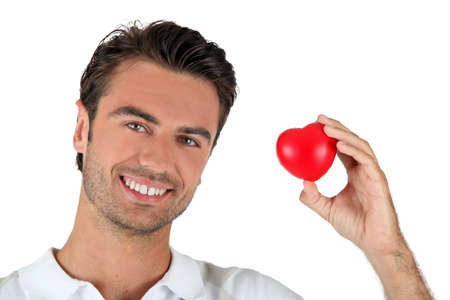 man holding a little heart Stock Photo - 13848331