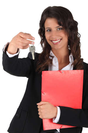 Ambitious female estate-agent photo