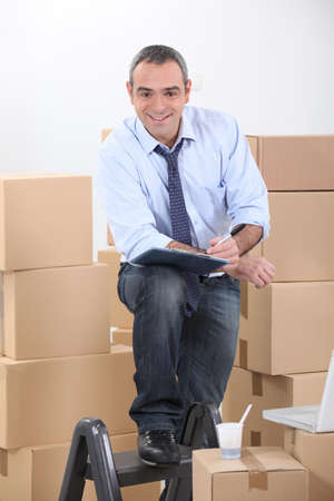 Man preparing to move photo