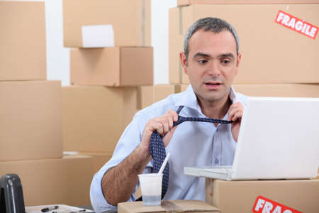 man looking for a new apartment Stock Photo - 13867484
