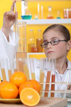 biologist: schoolgirl dressed as biologist