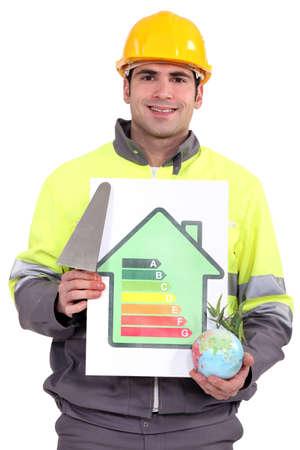 a mason showing energy class chart photo