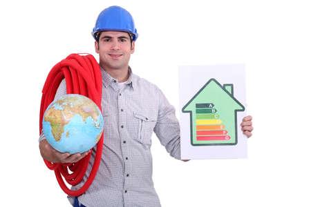 Eco-friendly builder Stock Photo - 13868282