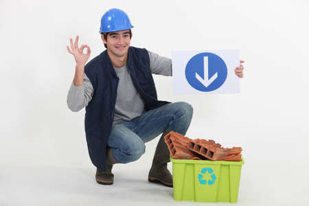 Smiling construction worker Stock Photo - 13868201