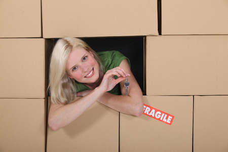 Girl in the middle of moving Stock Photo - 13868844