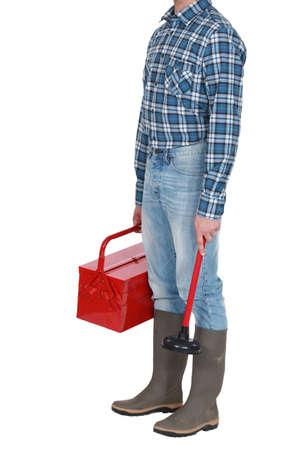 beheaded: A beheaded plumber.