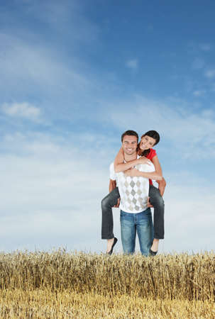 Couple in a field photo